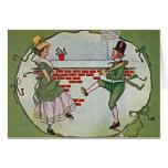 vintage irlandés de los bailarines tarjeta de felicitación