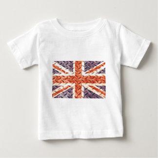 Vintage Iron Texture Union Jack British(UK) Flag T Shirts