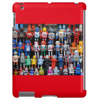 Vintage iron tin toy robot collection ipad case