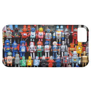 Vintage iron tin toy robot collection iPhone 5C cover
