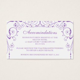 Vintage Ironworks Accommodations Card