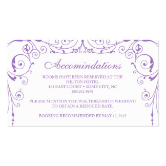 Vintage Ironworks Accommodations Card Double-Sided Standard Business Cards (Pack Of 100)