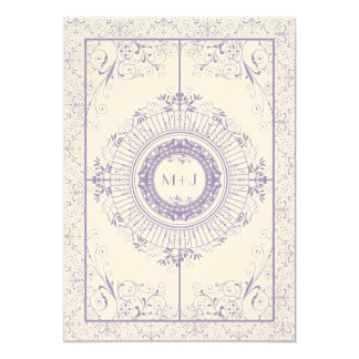 Vintage Ironworks Wedding Invitation with Initials