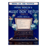 Vintage Irving Berlin Music Box Review 1922 Card