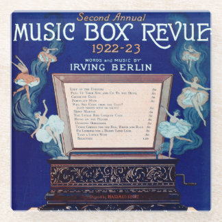 Vintage Irving Berlin Music Box Review 1922 Glass Coaster