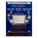 Vintage Irving Berlin Music Box Review 1922 Poster