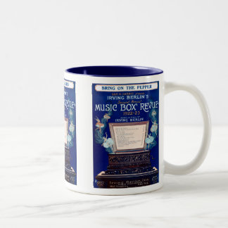 Vintage Irving Berlin Music Box Review 1922 Two-Tone Coffee Mug