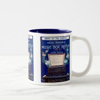 Vintage Irving Berlin Music Box Review 1922 Two-Tone Coffee Mug