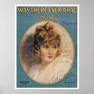 Vintage Irving Berlin Sheet Music Poster
