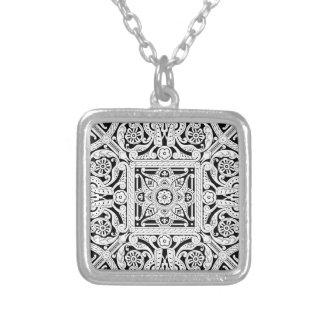 Vintage Islamic Motif Pattern Custom Necklace