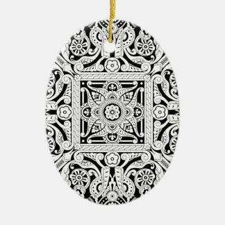 Vintage Islamic Motif Pattern Christmas Tree Ornament