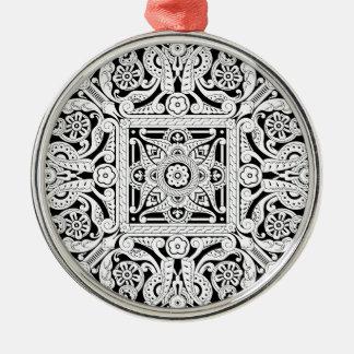 Vintage Islamic Motif Pattern Christmas Tree Ornaments
