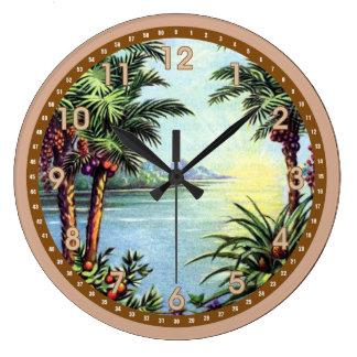 Vintage Island Large Clock