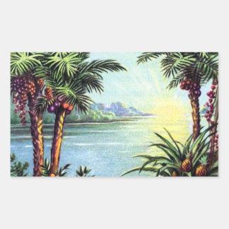 Vintage Island Rectangular Sticker