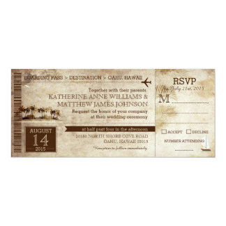 Vintage Island Retreat Beach Destination Wedding Card