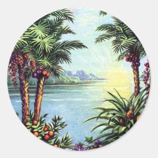 Vintage Island Sticker