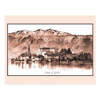 Vintage Isola San Giuolio Lago Orta Postcard