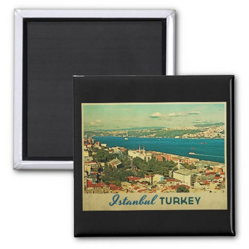 Vintage Istanbul Turkey Magnet