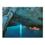 Vintage Italia, Capri, gruta azul Tarjeta Postal