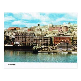 Vintage Italia, costa, Cagliari Postales