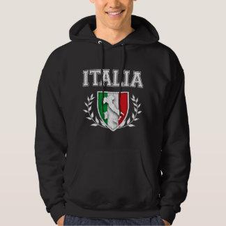 Vintage ITALIA Flag Crest Hoodie