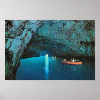 Vintage Italia, Italia, Capri, gruta azul Impresiones