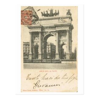 Vintage Italia, paso del della de Arco, Milano Postal