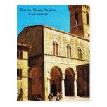 Vintage Italia, Pienza, Siena, Palazzo Communale Tarjetas Postales