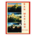 Vintage Italia, poster del viaje, San Marino Postales