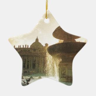 Vintage Italia, Roma, Vatican, San Pedro Ornaments Para Arbol De Navidad