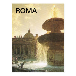 Vintage Italia, Roma, Vatican, San Pedro Postales