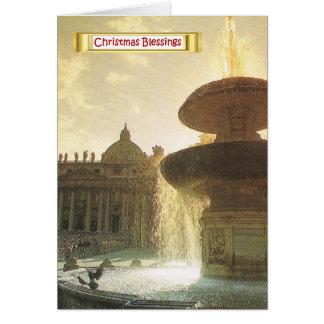 Vintage Italia, Roma, Vatican, San Pedro Tarjeta De Felicitación