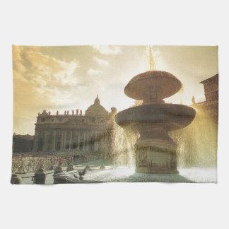 Vintage Italia, Roma, Vatican, San Pedro Toallas De Cocina
