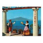 Vintage Italia, Sorrento, traje tradicional Tarjeta Postal