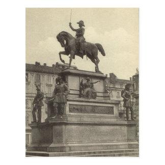 Vintage Italia, Torino, Carlo Alberto 1901 Tarjetas Postales