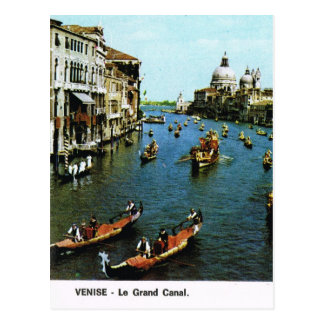 Vintage Italia, Venecia, Gran Canal, góndolas Tarjetas Postales