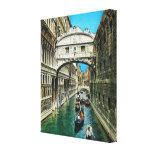 Vintage Italia, Venecia, puente de suspiros Lienzo Envuelto Para Galerías