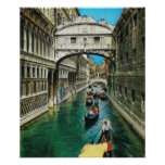 Vintage Italia, Venecia, puente de suspiros Posters