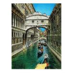Vintage Italia, Venecia, puente de suspiros Tarjetas Postales