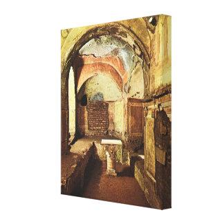 Vintage Italia, Venecia, Roma, catacumba de Prisci Impresiones En Lienzo Estiradas