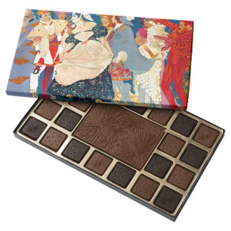 Vintage Italian Ad 1907 45 Piece Box Of Chocolates
