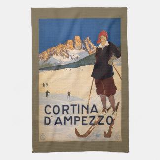 Vintage Italian Alps hand towel