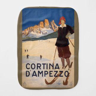 Vintage Italian Alps Italy burp cloth
