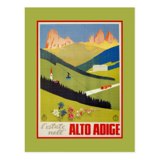 Vintage Italian Alps (South Tyrol) travel Postcard