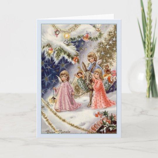 Vintage italian angels buon natale christmas card zazzle vintage italian angels buon natale christmas card m4hsunfo