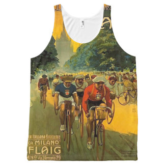 Vintage Italian Bicycle Ad All-Over-Print Tank Top