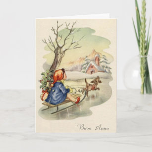In italian new years cards zazzle vintage italian buon anno happy new year card m4hsunfo