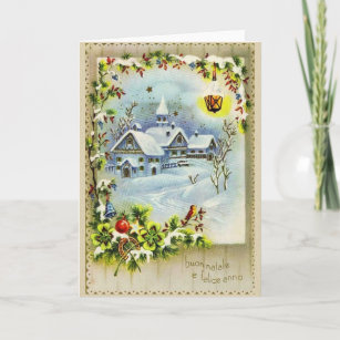 In italian new years cards zazzle vintage italian christmas and new year card m4hsunfo
