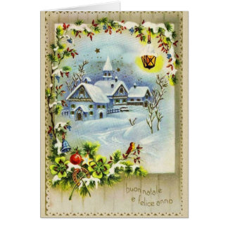 Vintage Italian Christmas and New Year Card