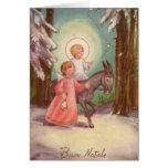 Vintage Italian Christmas Card